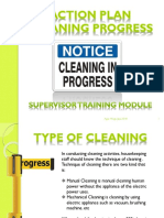 Action Plan for Cleaning Progress