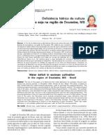 Deficiência hídrica da cultura da soja na região de Dourados