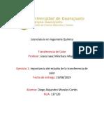 Ejercicio 1-Importancia Del Estudio de La Transferencia de Calor