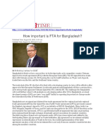 How Important is FTA for Bangladesh