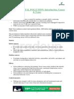 Environmental notes