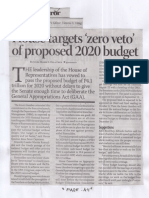 Business Mirror, Aug. 20, 2019, House targets zero veto of proposed 2020 budget.pdf