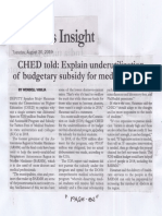 Malaya, Aug. 20, 2019, CHED told Explain underutilization of budgetary subsidy for medical studes.pdf