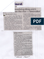Manila Standard, Aug. 20, 2019, HIV cases involving drug users in Visayas on the rise-lawmaker.pdf
