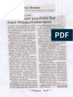 Manila Times, Aug. 20, 2019, Lawmaker pushes for two Maguindanaos.pdf