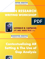 Workshop on Contextualizing AR Setting & Use of Gap Analysis.pdf