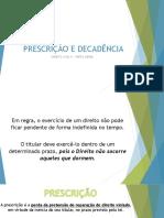 PRESCRIÇÃO, DECADÊNCIA E PROVA.pptx