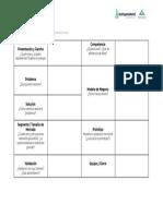 Ficha para Pitch - StartupWeekend