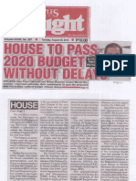 Peoples Tonight, Aug. 20, 2019, House to pass 2020 budget without delays.pdf