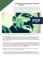 Walter Benjamin_ la dialéctica de la esperanza del _ángel de la Historia_ - Infobae