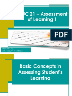 1st Topic Concepts in Assessment