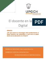 Ensayo- El Docente en La Era Digital. Valery Carolina Flores Cruz