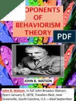 Behaviorism Report