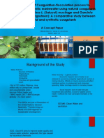 Opimization of Coagulation-flocculation Process for Treatment of Wastewater
