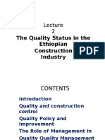 2.the Quality Status in the Ethiopian Construction Industry