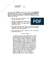 Affidavit of Seller - Lim Draft