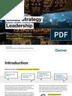 Gartner - Cloud Strategy Leadership