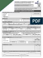 Formulario f02 RENAMU 2019
