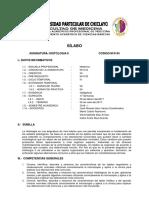 Sílabo. Histología II. 4to Ciclo.