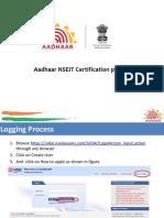 Aadhaar NSEIT Certification
