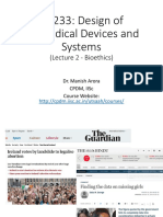 design of medical devices and systems
