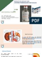 Adrenocorticoids sex hormones & insulin.Lecturer notes-Dr.Jibachha Sah
