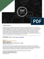TAP 2019 Full Programme (English)