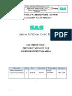 Method Statement of Installation of UNDER DRAINS