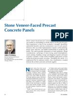 Stone Veneer-Faced Precast Concrete Panels