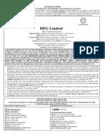 Letter of Offer HEG limited