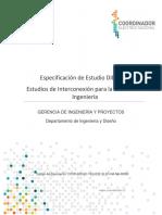 EDE Estudios de Interconexión Para Revisión de Ingeniería