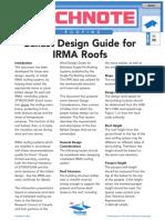 TechNote 508 Ballast Design Guide for IRMA Roofs