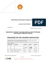 Procedure for Test Header Certification