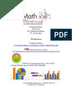 Imaginary Numbers Worksheet