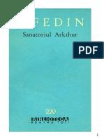 Konstantin Fedin - Sanatoriul Arkthur.doc