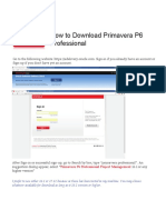 How to Download Primavera P6 Professional From Oracle