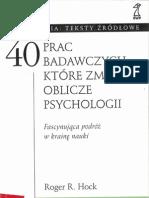 40 prac badawczych, które zmieniły oblicze przychologii - R[1]. R. Hock