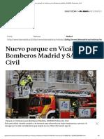 Nuevo Parque de Bomberos para Vicálvaro.