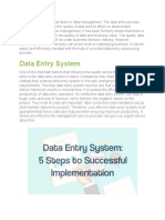 Data Entry System - 5 Steps to Successful Implementation