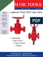 FLS BROCHURE Cameron Style FLS Gate Valve Rev 2