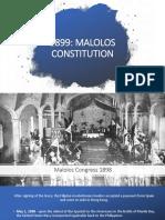 Malolos Constitution 1899