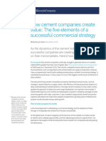 How Cement Companies Create Value the Five Elements of a Successful Commercial Strategy