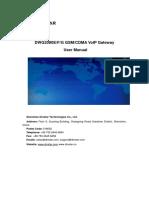 Dwg2000efg Gsm Cdma Voip Gateway User Manual(Final)