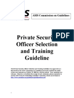 private security offier selection and training guide