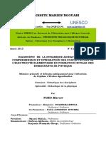 DIAGNOSTIC  DE  LA DYNAMIQUE ADIDACTIQUE  DE COMPREHENSION ET INTEGRATION DES CONCEPTS-CLES DE L'ELECTRICITE ELEMENTAIRE EN FORMATION INITIALE DES ENSEIGNANTS DE PHYSIQUE