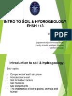 soil Hydrogeology