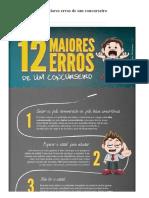 Infográfico- Os 12 Maiores Erros de Um Concurseiro - Concursos
