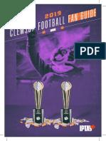 2019 Clemson Football Fan Guide