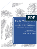 Media Management Report