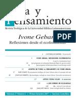 Zárate Carrizo - 2007 - El Pensamiento Teológico de Ivone Gebara Sobre El Concepto Del Mal